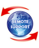 click for remote support